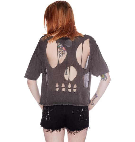 Skull Cut-Out Shirt