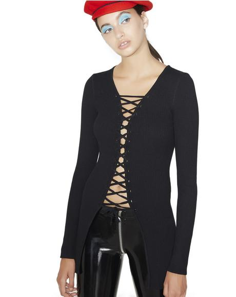 Double Trouble Lace-Up Top