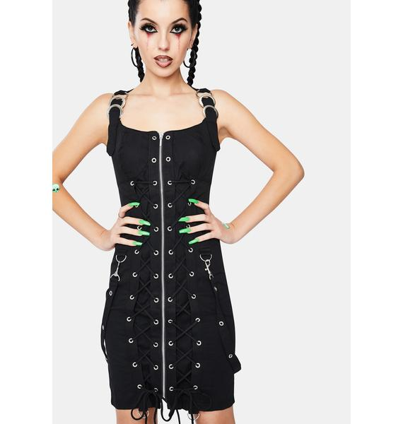 Dr. Faust Maia Goth Bondage Mini Dress