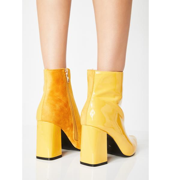 Public Desire Chaos Two-Tone Ankle Boots