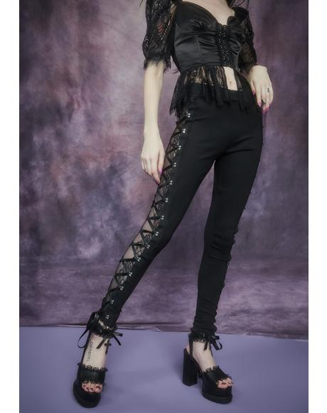 Secret Of Immortality Lace Corset Leggings