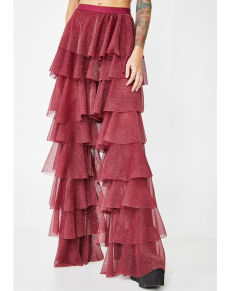 Wine Disco Witch Tulle Pants
