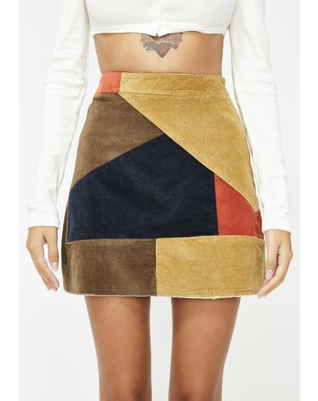 She's So Cold Colorblock Skirt