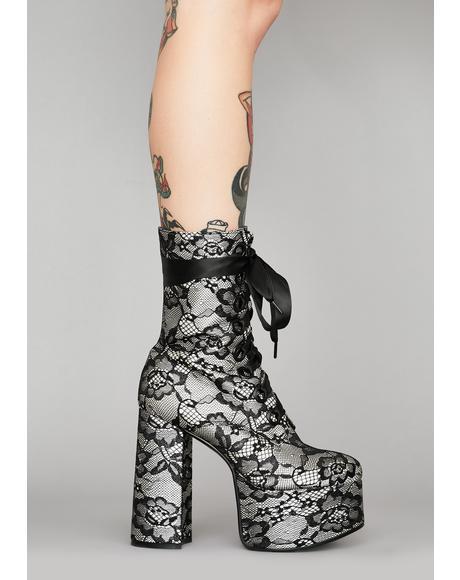 Lacrimosa Lace Platform Boots