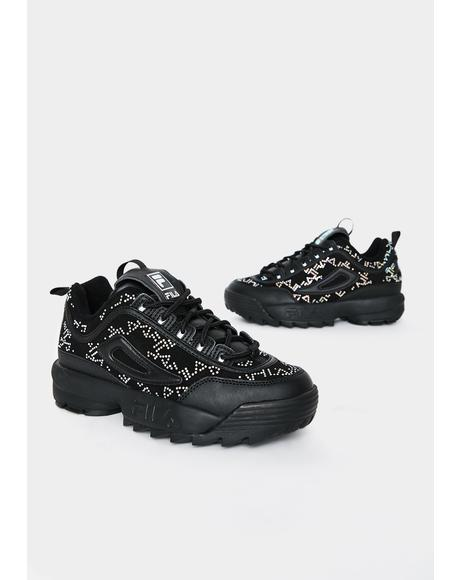 Black Disruptor II Diamante Sneakers