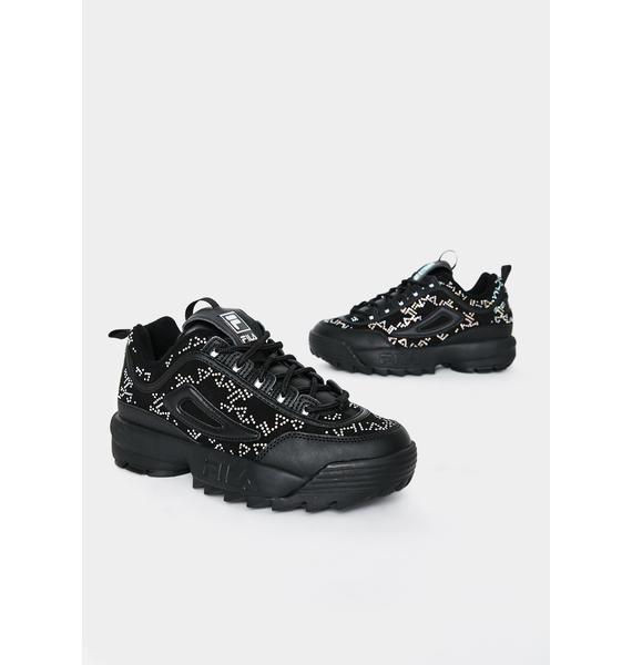 Fila Black Disruptor II Diamante Sneakers