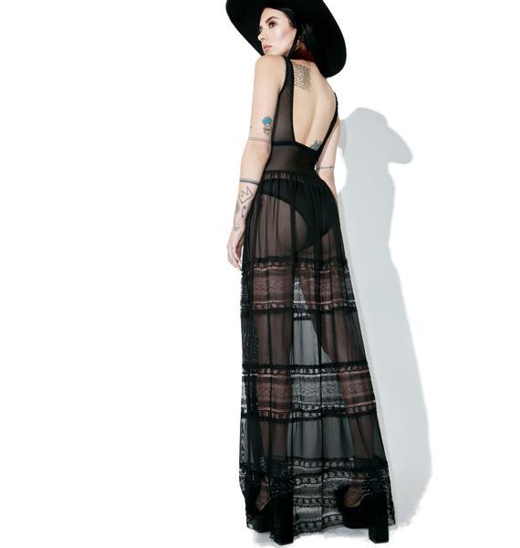 I Slay Sheer Maxi Dress