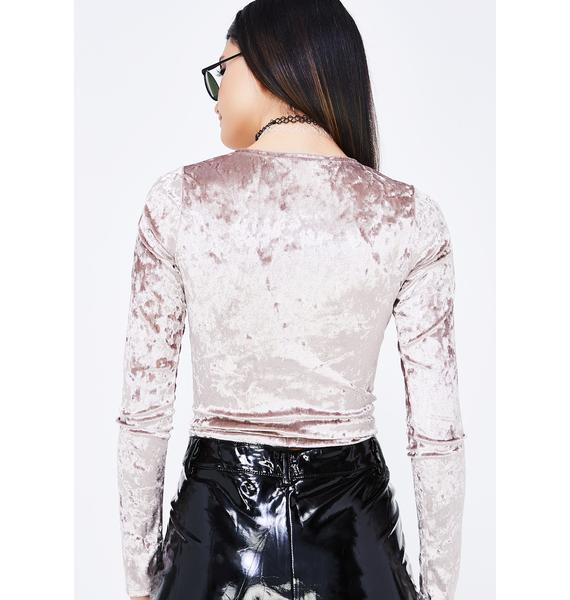 Not Mine Velvet Crop Top