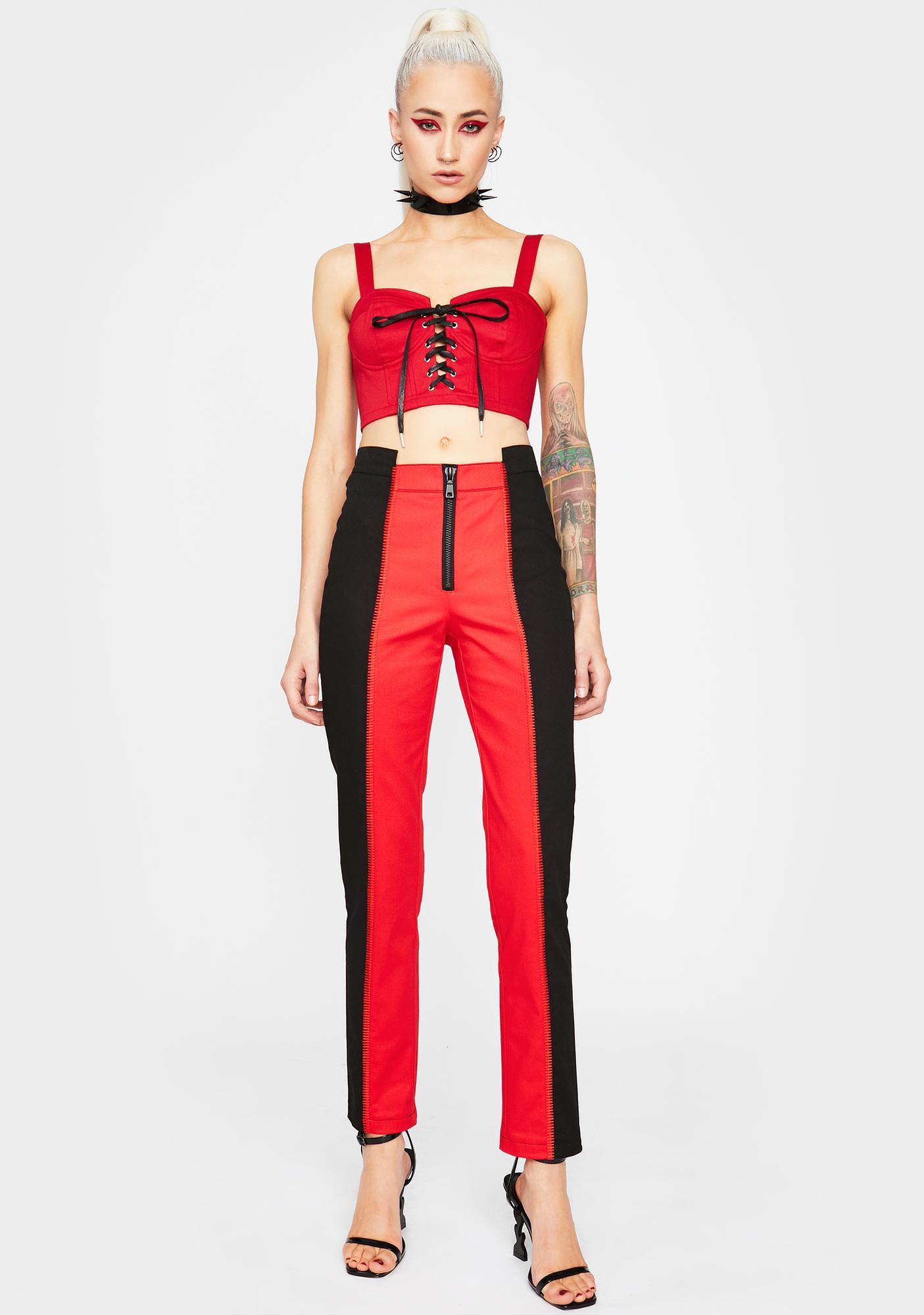 HOROSCOPEZ Double Trouble Colorblock Trousers
