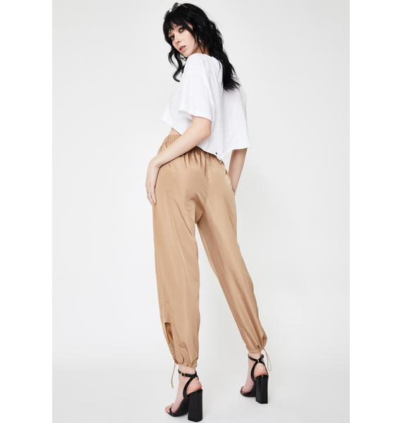 Daisy Street Cropped Cut-Out Track Pants