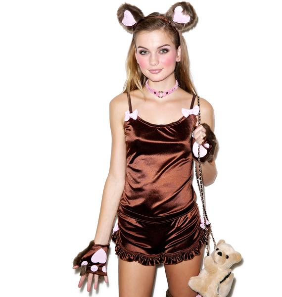Lip Service Cuddle Me Teddy Bear Costume