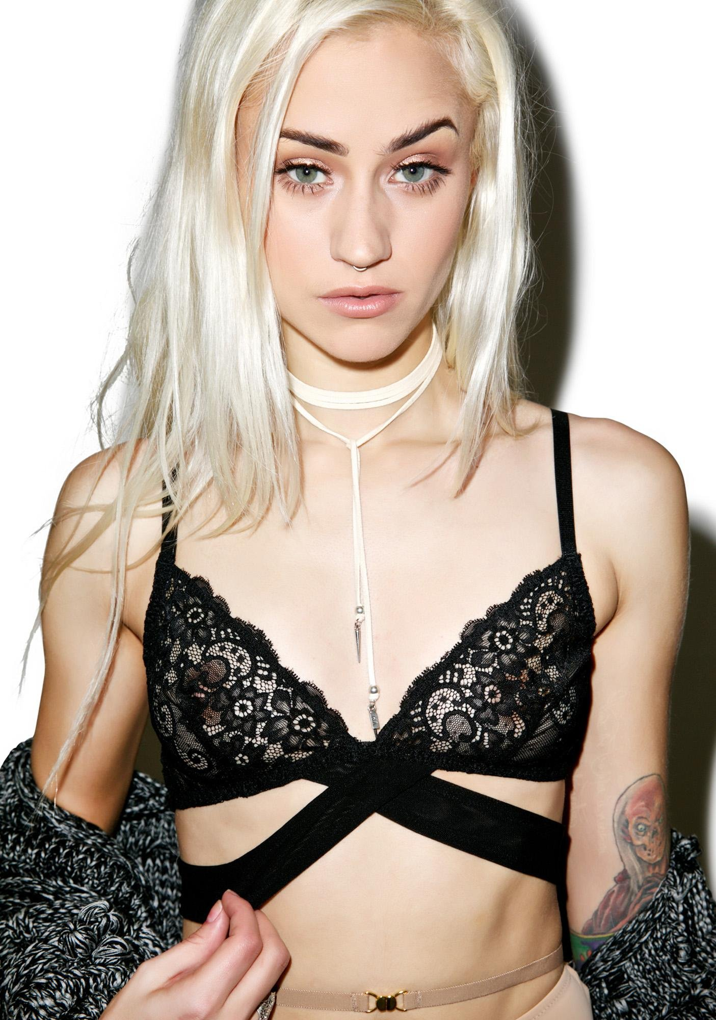 Onyx Devotion Lace Bralette