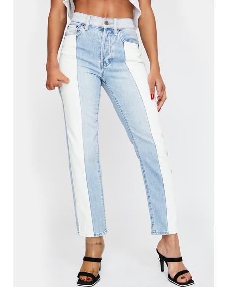 Charlie Colorblock Straight Leg Jeans
