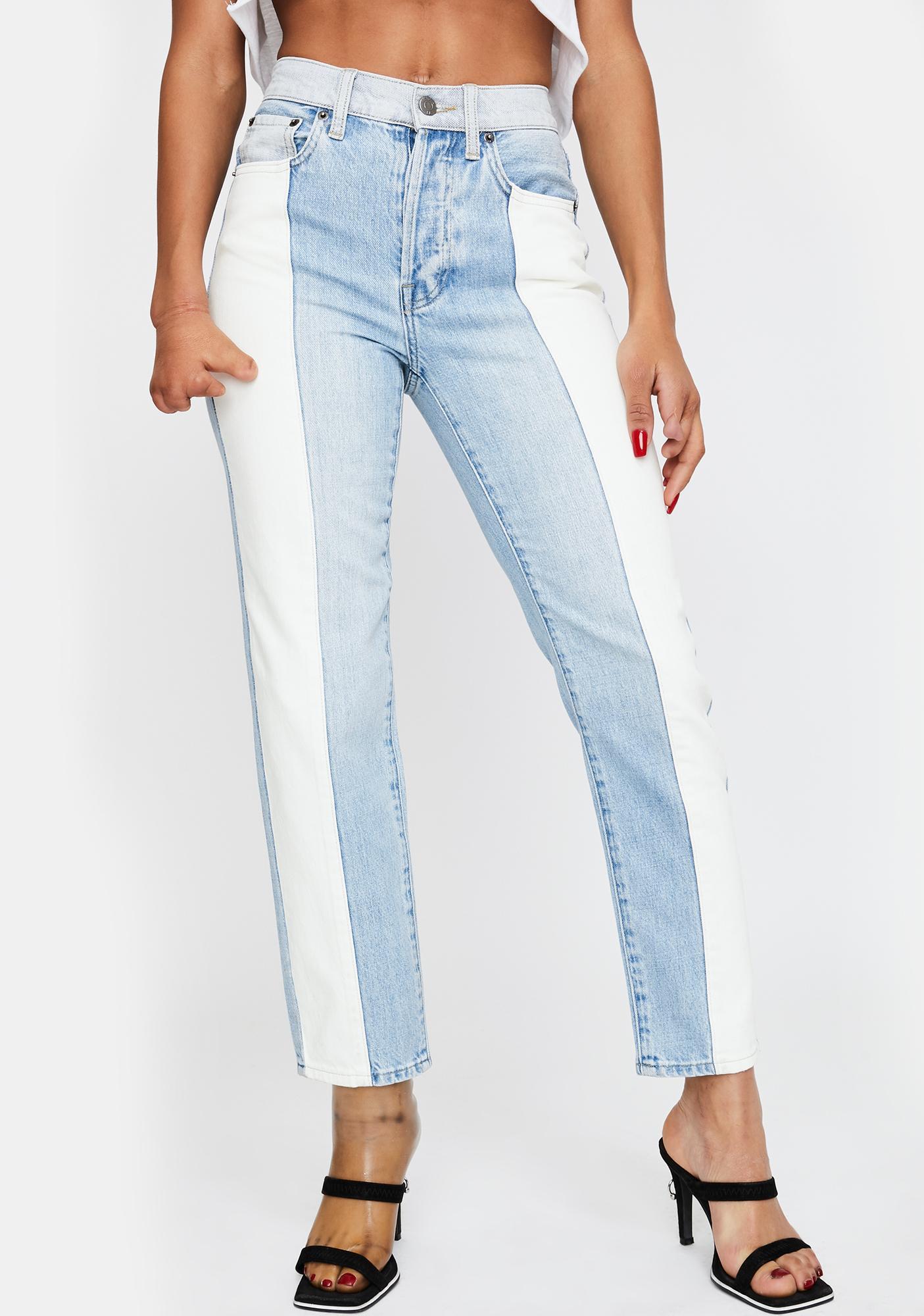 Pistola Charlie Colorblock Straight Leg Jeans