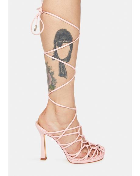 Pink Brebre Wrap Heels