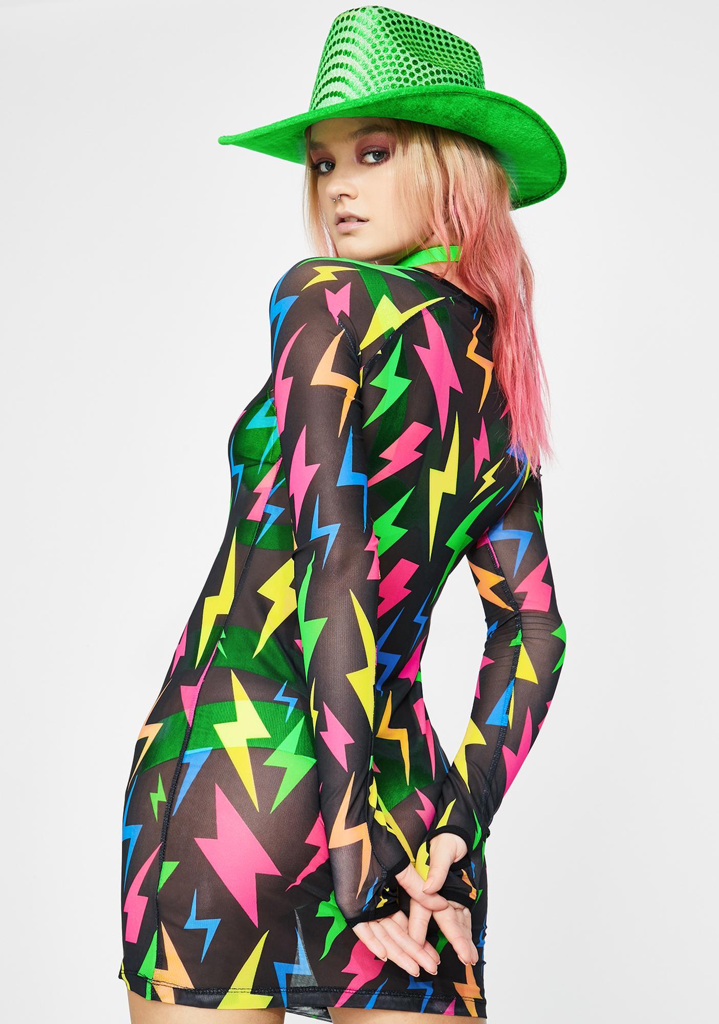 Club Exx Stereo Shock Mesh Dress