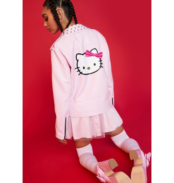 Dolls Kill x Hello Kitty Nothing Sweeter Moto Jacket
