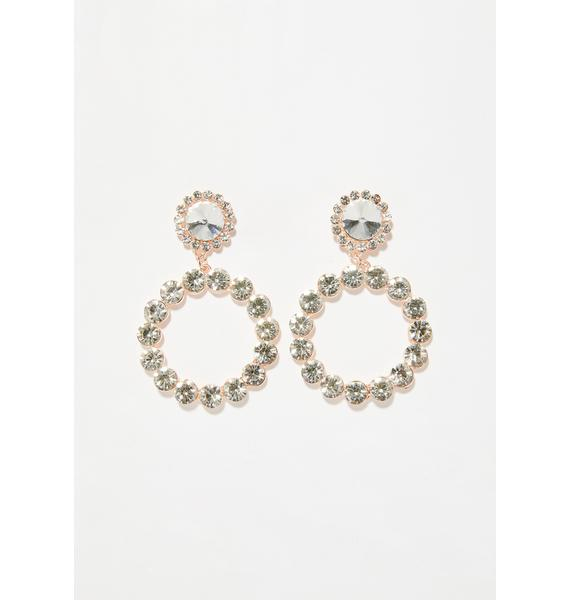 Crystalline Dream Circle Earrings