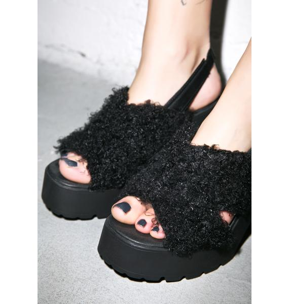Lina Shaggy Sandals