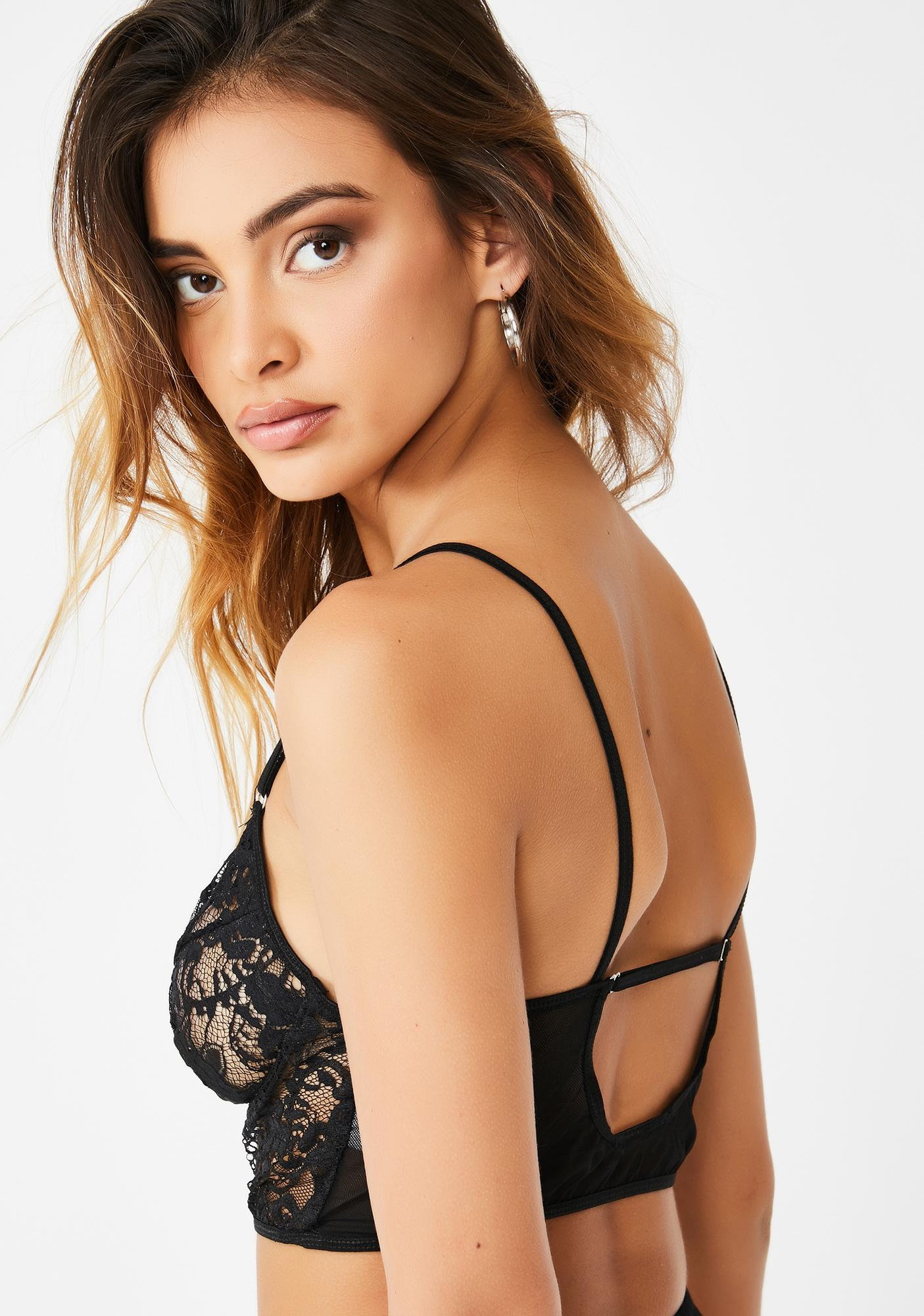 Midnight Lovers Only Bra Top