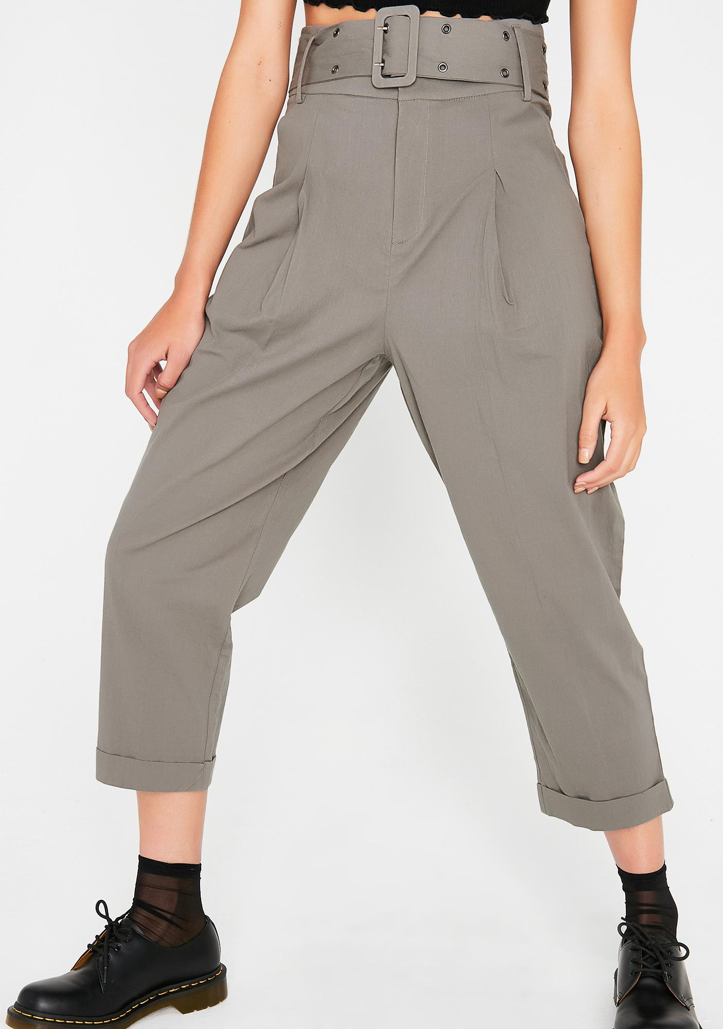 Here To Stay Belted Trousers
