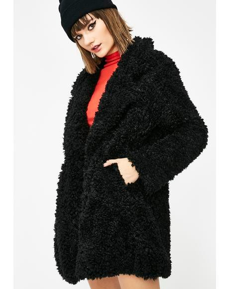 Midnight Forest Wanderer Fuzzy Coat