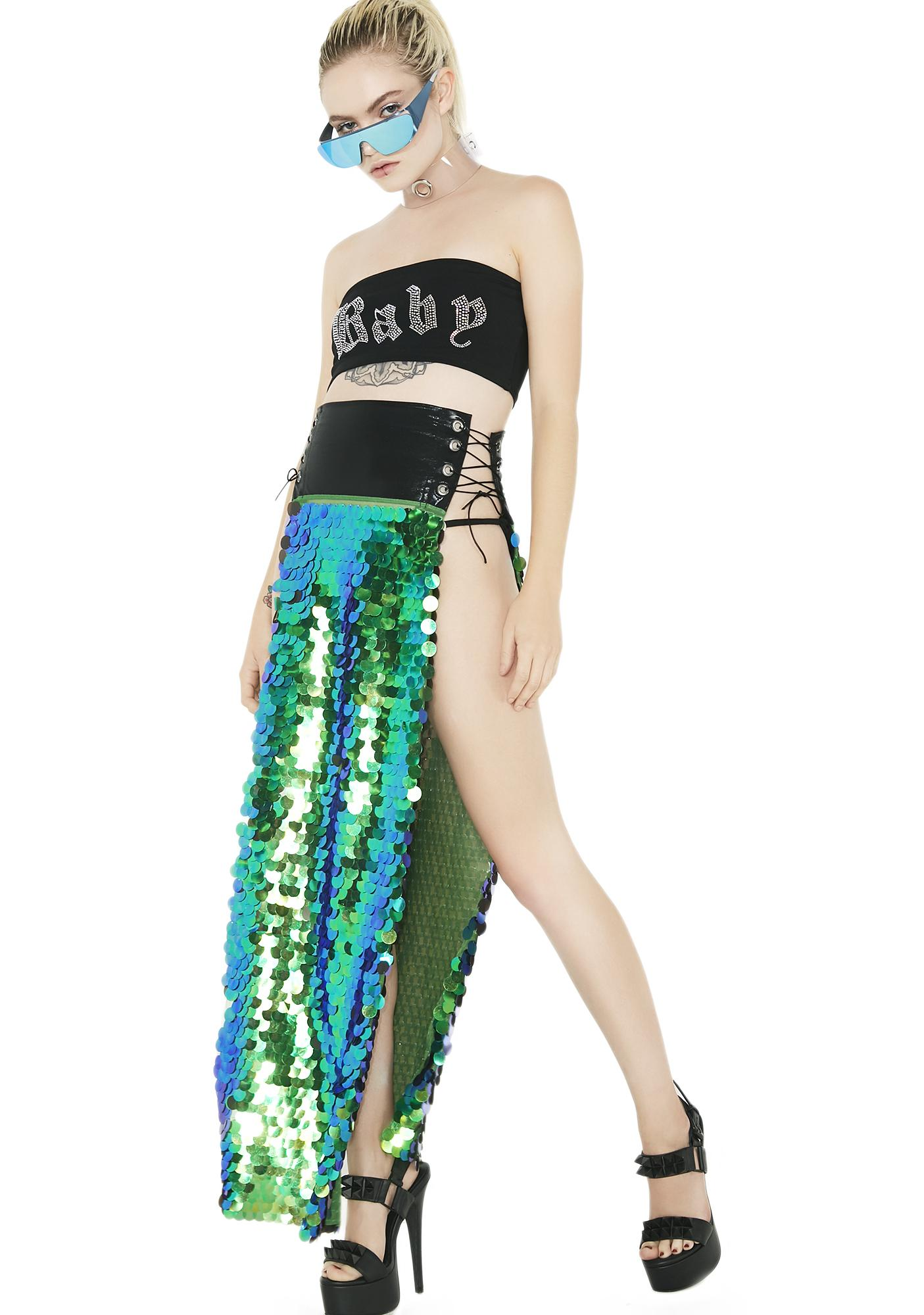The Lyte Couture Gypsy Mermaid Panel Maxi Skirt