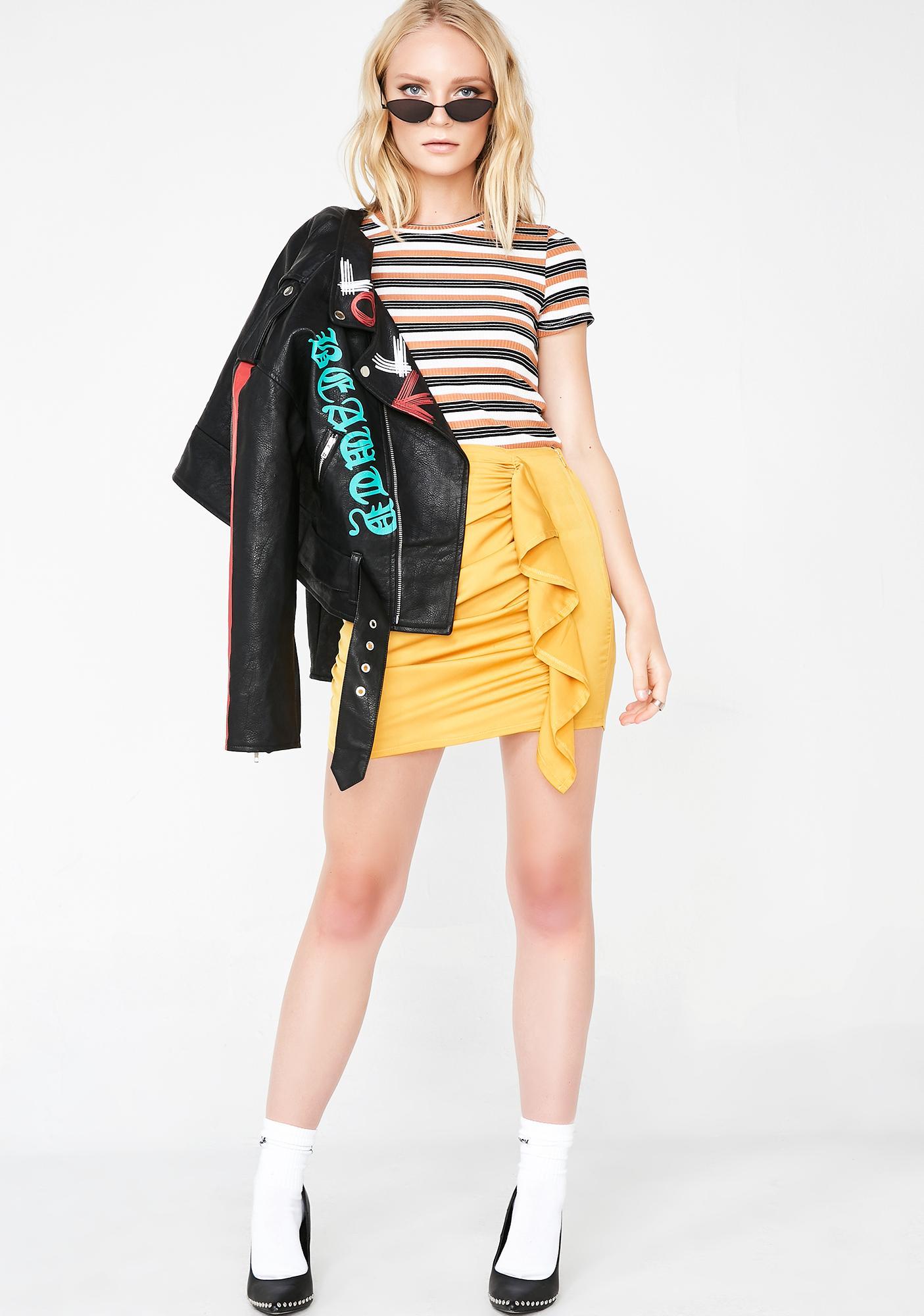 Wavy Babyyy Mini Skirt