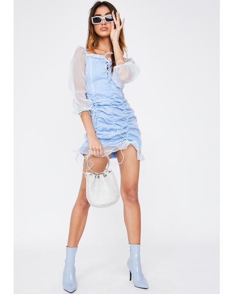 Baby Blue Feng Shui Mini Dress