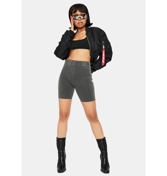 Charcoal Day Rider Biker Shorts