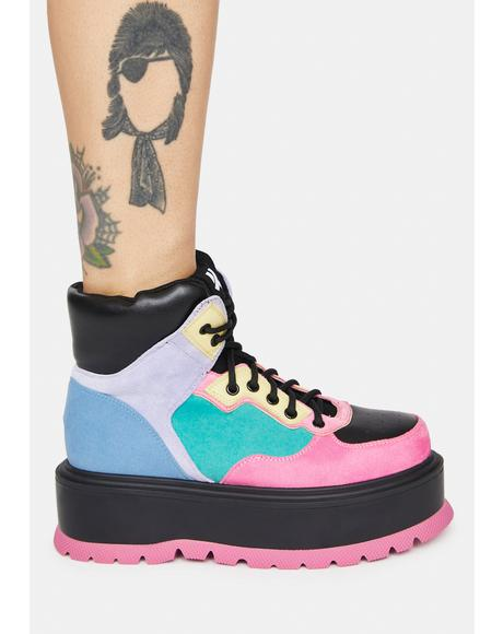 Black Sumikko Platform Sneakers