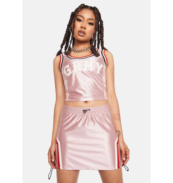 GRIMEY Pink Sport Mini Skirt