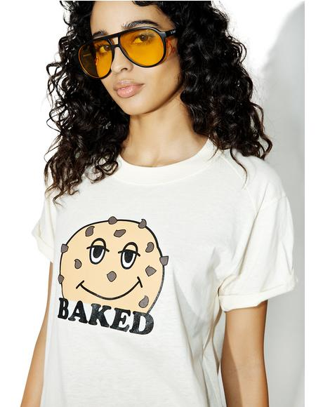 Baked Cookie Rolled Sleeve Tee