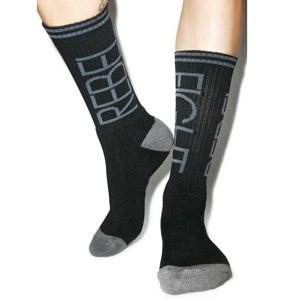 Rebel8 Flip Black/Grey Socks