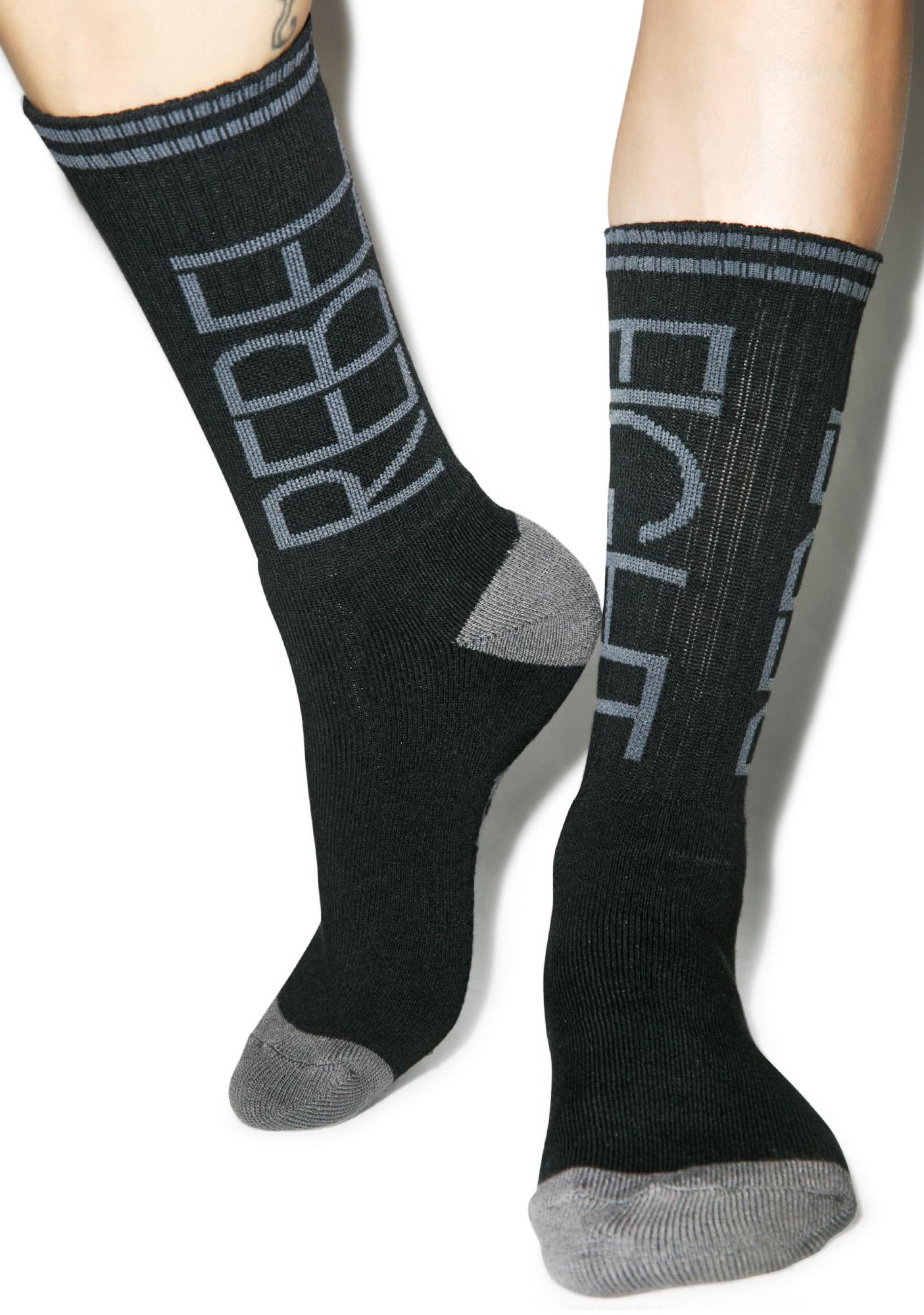 Rebel8 Flip Black/Grey Socks