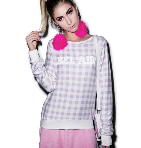 Wildfox Couture Gingham in Bel Air Baggy Beach Jumper