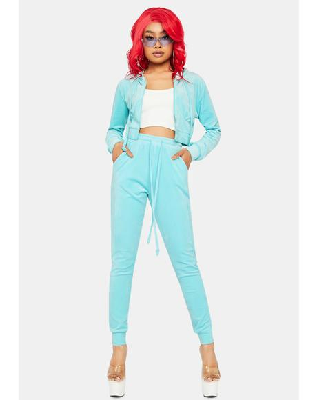 Forever An Icon Velour Tracksuit Set