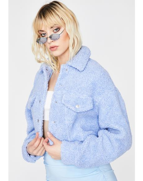 Cloudy Feelings Sherpa Jacket