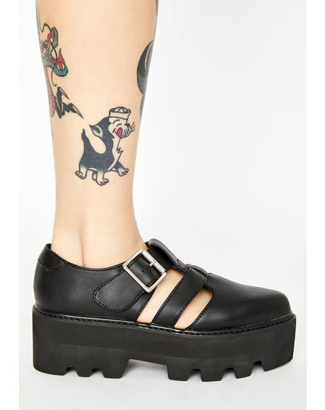 Big Buckle Dino Lug Sandals