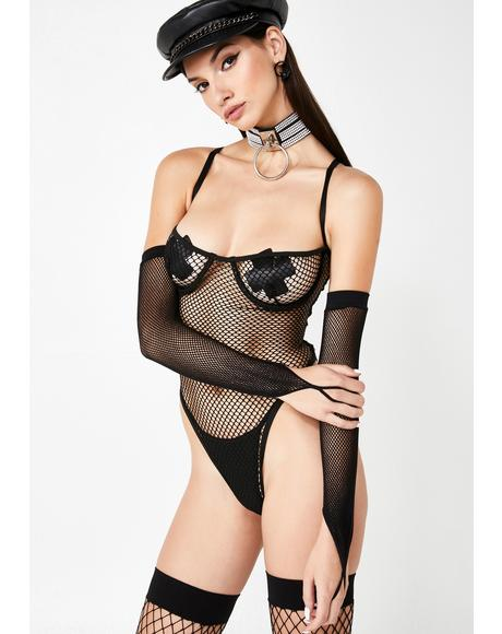 You Caught Me Fishnet Bodysuit