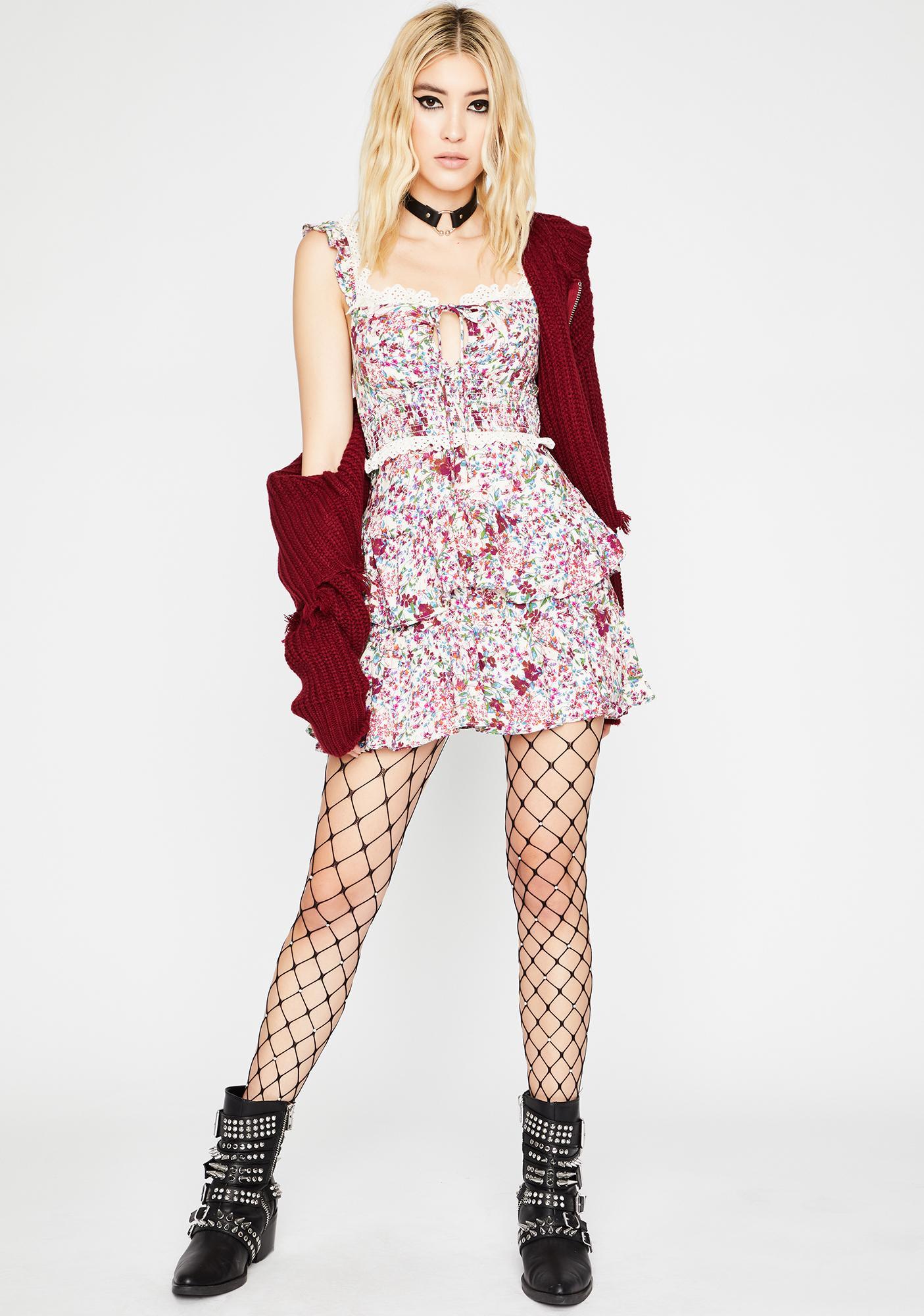 Chill Flirt Fiend Ruffle Dress