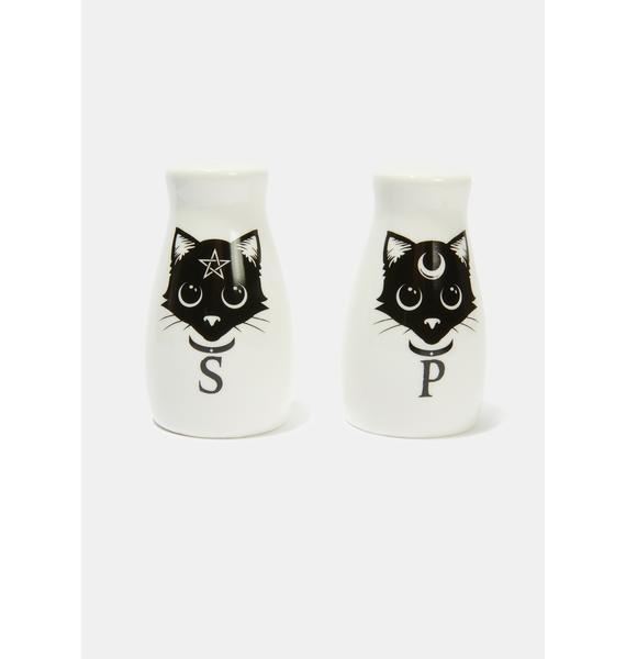 Alchemy England Cat Salt and Pepper Set