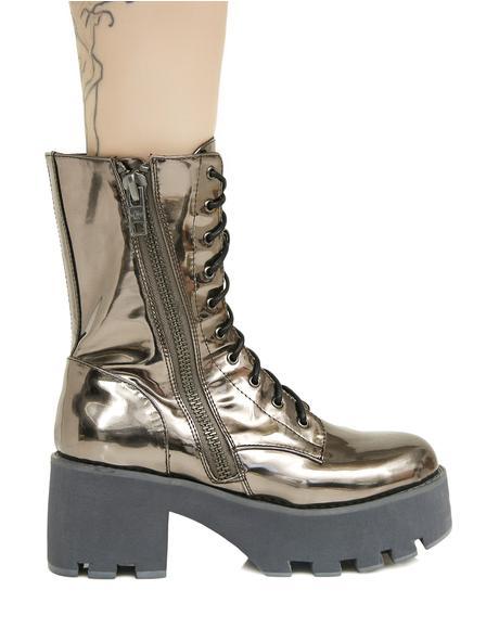 Galactic Vortex Platform Boots