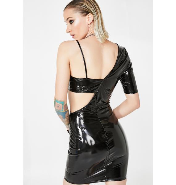 Glam Racer Vinyl Dress