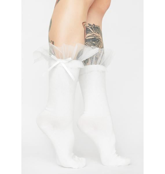 Front And Center Ruffle Socks