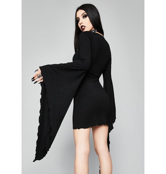 Widow Wicked Spell Lace-Up Dress