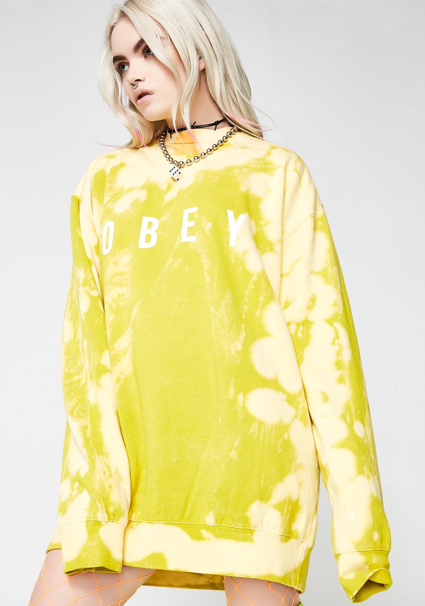 Obey Anyway Crew Sweatshirt