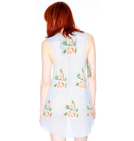 Wildfox Couture Prairie Rose Cutoff Trailer Tank