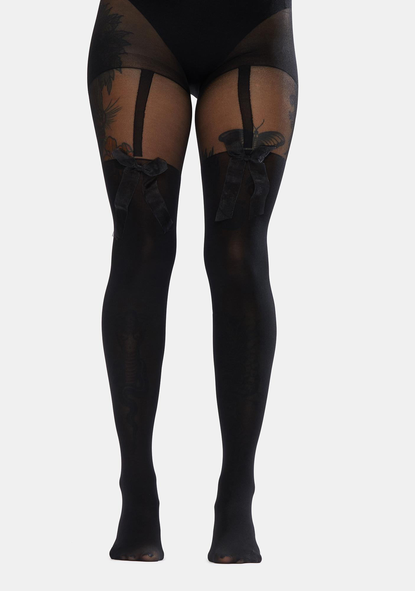 Barely Relatable Bow Sheer Tights