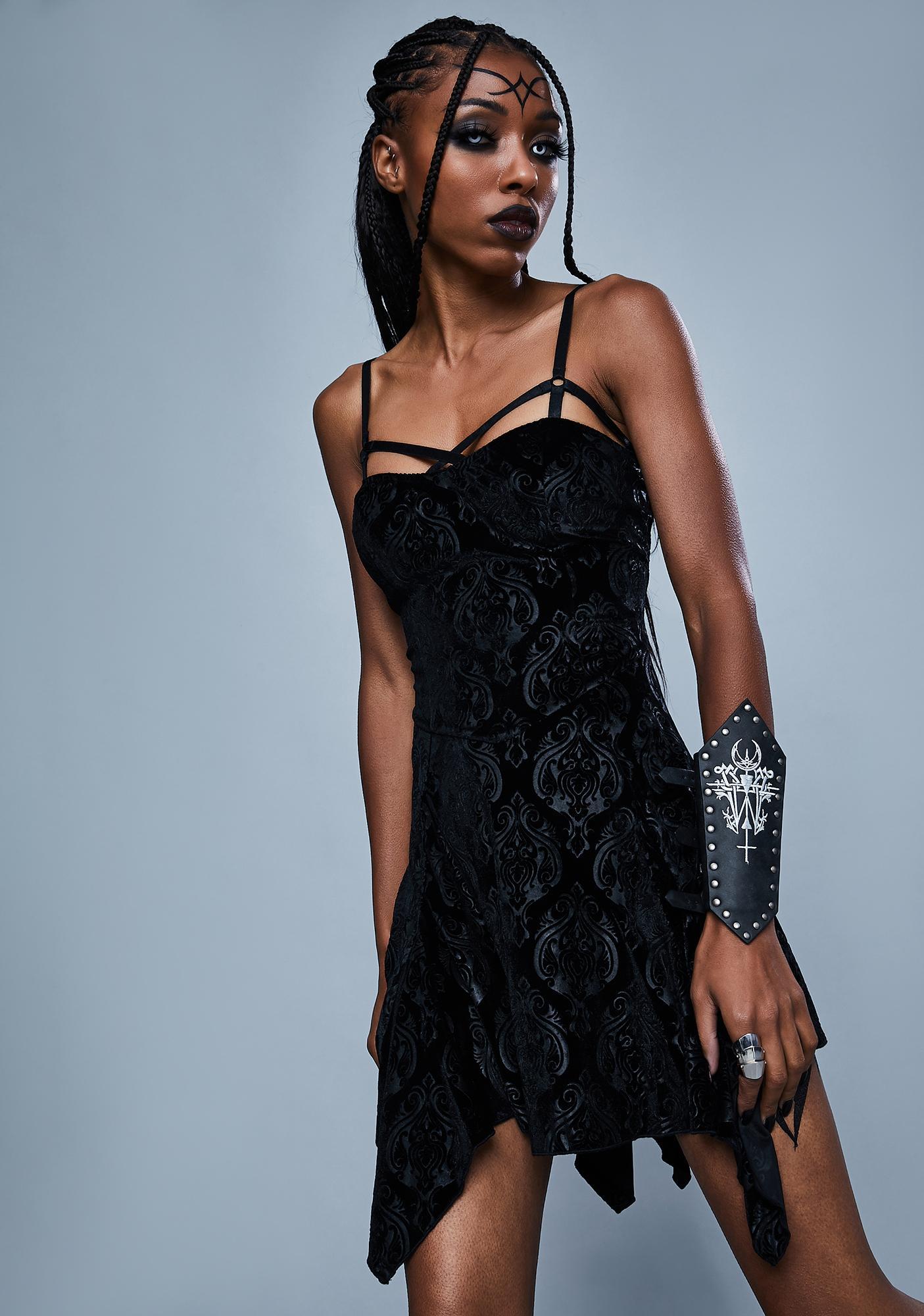 Widow Too Far Gone Velvet Dress